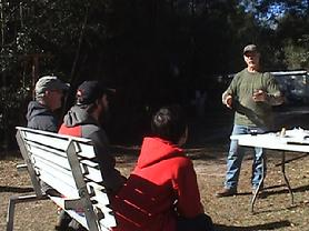 Bob Moral teaching about firearms safety